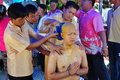 Ordinate procession ordinations priest neophyte ecclesiastic thailand ordain Stock Photo