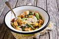 Orecchiette Pasta with garlic and sage Royalty Free Stock Photo