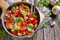 Orecchiette pasta with vegetables Royalty Free Stock Photo