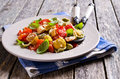 Orecchiette pasta with vegetables Royalty Free Stock Photo