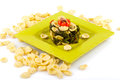 Orecchiette with turnip plate top traditionally italian meal Stock Image