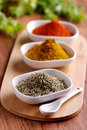 Oregano and other spices in the bowl Stock Photos