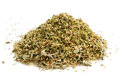 Oregano pile isolated on a white background Stock Photography