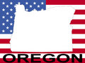 Oregon on flag Stock Photography