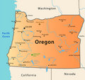 Oregon map Stock Images
