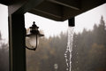 Oregon rain storm weather comes down hard in this in typical in the fall or autumn Royalty Free Stock Photo