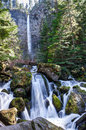 Oregon-Umpqua National Forest-Rogue-Umpqua Scenic Byway-Watson Falls Royalty Free Stock Photo