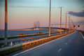 Oresund bridge between Sweden and Denmark Royalty Free Stock Photo