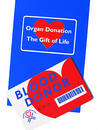 Organ & Blood donor info. Royalty Free Stock Images