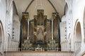 Organ in Church Grossmunster Zurich Royalty Free Stock Photo