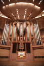 Organ in concert hall Royalty Free Stock Photos