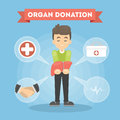 Organ donation man.