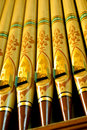 Organ pipes Royalty Free Stock Photo