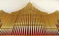 Organ pipes church hall Royalty Free Stock Photo