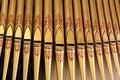 Organ Pipes Close-up Royalty Free Stock Photo