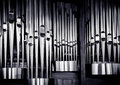 Organ pipes set Stock Images