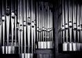Organ pipes set Royalty Free Stock Photo