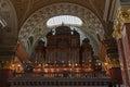 Organ of Saint Stephen Basilica in Budapest, Hungary. Royalty Free Stock Photo