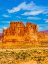 The Organ, a Sandstone Formation along the Arches Scenic Drive in Arches National Park Royalty Free Stock Photo