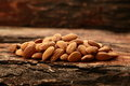 Organic almond nuts Royalty Free Stock Photo