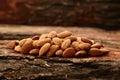 Organic almond nuts Royalty Free Stock Photo