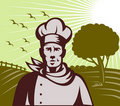 Organic Baker chef or cook farm Royalty Free Stock Photos