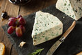 Organic Blue Cheese Wedge Royalty Free Stock Photo