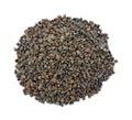 Organic buckwheat hulls Royalty Free Stock Photo
