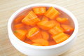 Organic carrot stew served in bowl Stock Image