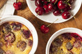 Organic Cherry Cobbler Cake Royalty Free Stock Photo