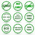 Organic eco and bio labels reen Royalty Free Stock Image