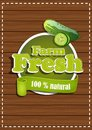 Organic farm an environmentally friendly product natural sticker with vegetables Royalty Free Stock Photography
