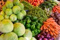 Organic farmers food market place. Fresh healthy products Royalty Free Stock Photo