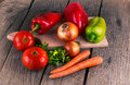 Organic Food Background Vegeta...