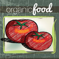 Organic Food illustration Stock Images