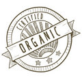 Organic food label Royalty Free Stock Photo