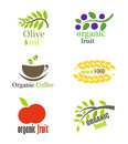 Organic food labels Royalty Free Stock Image