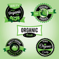 Organic food labels and badges set of vector eps available vector file contains transparencies Royalty Free Stock Image