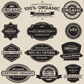 Organic Food Labels Vector Collection Set Royalty Free Stock Photo