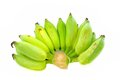 Organic fresh green bananas isolated. Royalty Free Stock Photography