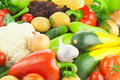 Organic Fresh Healthy Vegetables / Food Background Stock Photography