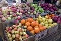 Organic Fruit Apples Oranges Lemons Pomegranate Pears Royalty Free Stock Photo