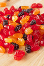 Organic Fruit Gummy Snacks for Kids Royalty Free Stock Photos