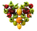 Organic fruit heart Royalty Free Stock Photo