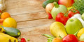 Organic fruits and vegetables Stock Photography
