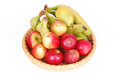 Organic fruits on white Royalty Free Stock Image