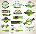 Organic and Genuine product premium labels. Royalty Free Stock Photos