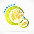 Organic grains farm fresh abstract logo illustration Royalty Free Stock Image