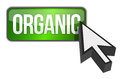 Organic green 3d banner with white text Stock Images