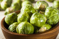Organic green brussel sprouts ready to cook Royalty Free Stock Photography